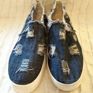 Sam Edelman Distressed Platform Shoes